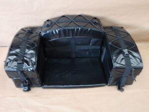 cargo bag with seat atv tek arch frame zipper free padded bottom four wheeler ebay. Black Bedroom Furniture Sets. Home Design Ideas