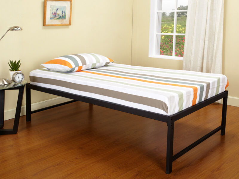 Black Metal Twin Size Day Bed Daybed Frame New