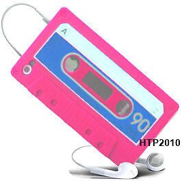 Pink Cassette Tape Soft Case Cover for Apple iPhone 4