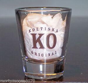 KOLTISKA-90-PROOF-LIQUEUR-SHOT-GLASS-SHOTGLASS-SHOOTER-A-COWBOY-TRADITION-NEW