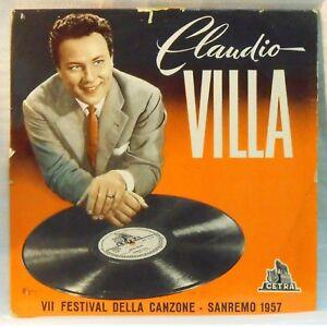"""CLAUDIO VILLA - SANREMO 1957 33 GIRI 25 Cm 10"""" - Italia - L'oggetto può essere restituito - Italia"""