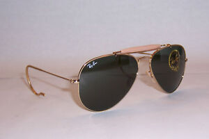 NEW-RayBan-Sunglasses-Outdoorsman-3030-L0216-Gold-58MM-AUTHENTIC