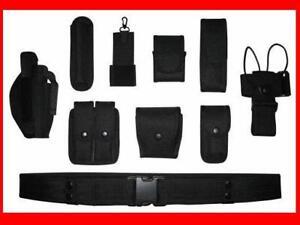 POLICE-SECURITY-MODULAR-EQUIPMENT-SYSTEM-DUTY-BELT-NICE-Molded-Nyon-Set