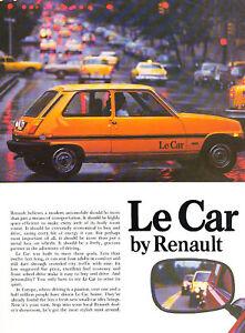 1978 renault lecar le car original sales brochure. Black Bedroom Furniture Sets. Home Design Ideas