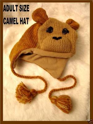 Delux Tag Camel Hat Knit Lined Horse Play Animal Shaped Costume Adult Joe Unisex