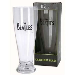 TALL-BOXED-GIFT-BAR-THE-BEATLES-BAND-LARGE-CHALLENGE-GLASS-2004