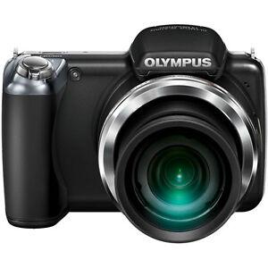 Olympus-SP-810UZ-14-0-MP-COREL-SOFTWARE-4GB-CARD-CASE-DIGITAL-CAMERA-Black