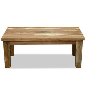 Coffee Table Solid Acacia Wood Slate Indian Furniture Ebay