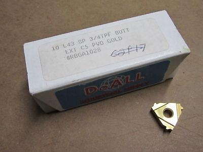 6 L43 8p Butt Ext 3/4 Tpf Ext C5 Pvd Carbide Inserts