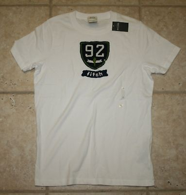 Abercrombie Boys Medium Muscle Fit Ss White T-shirt - Last One