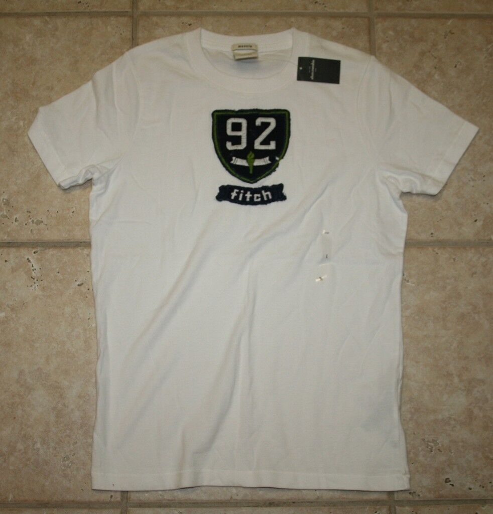 Abercrombie Boys Small Muscle Fit Ss White T-shirt - Last One
