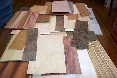 "50-60 pc.mixed exotic wood veneer 5""x8"""