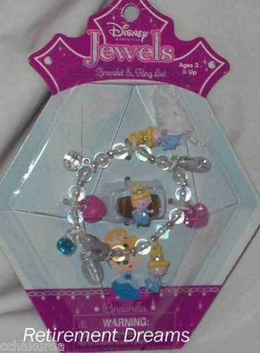 DISNEY Jewels CINDERELLA Bracelet Ring Set NEW Girls