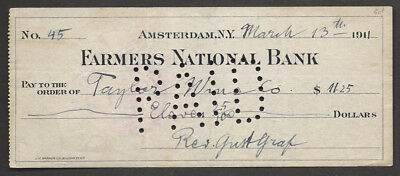 Farmers National Bank Taylor Wine Co Amsterdam Ny 1911