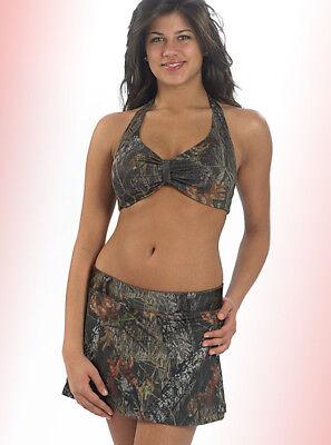 Mossy Oak Camo Swimwear, Swimsuit Halter Bikini Top & Ski...