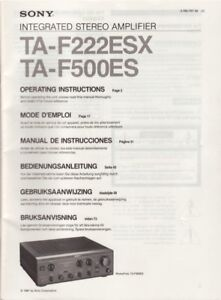 Sony-TA-F500ES-TA-F222ESX-Owners-Manual-6-Languages