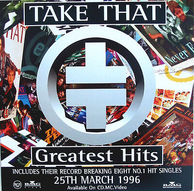 TAKE THAT POSTER Greatest Hits UK Promo Only DISPLAY Card 'In Store' Only