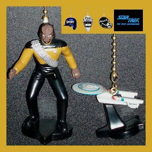 STAR-TREK-USS-ENTERPRISE-FIGURE-CEILING-FAN-PULLS-CRUSHER-RIKER-WORF-DATA