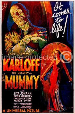 The Mummy Vintage Boris Karloff Movie Poster -24x36