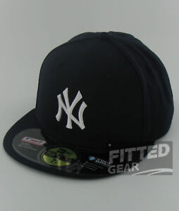 New-York-YANKEES-GAME-Home-Navy-Blue-White-New-Era-59Fifty-MLB-Fitted-Hat-Cap