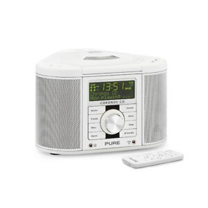 Pure CHRONOS-CDII Series II DAB/FM/CD Stereo Clock Radio in White