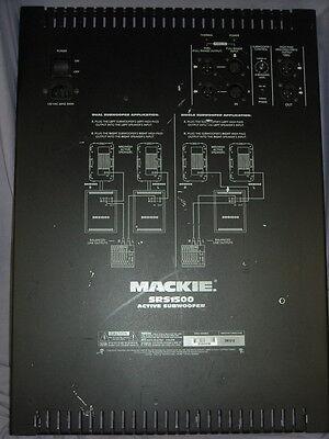 Mackie SRS1500 Subwoofer Amp Amplifier Module Flat Rate Repair Service!