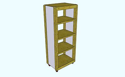 Roll About Benchtop Tool Storage Tower (plans Only)