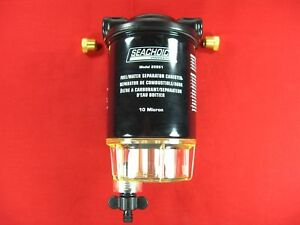 BOAT MARINE WATER SEPARATING FUEL FILTER KIT SEACHOICE 20931 WITH  BRACKET