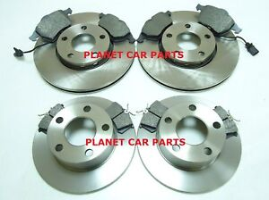 AUDI-A-6-A6-1997-2004-1-8-1-8T-1-9-TDi-2-0-FRONT-REAR-BRAKE-DISCS-AND-PADS-NEW