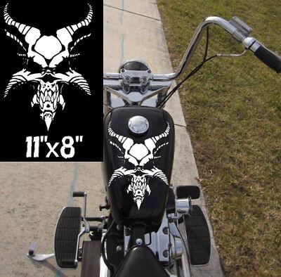 Motorcycle Demon Skull Gas Tank Decal Harley