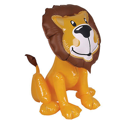 "24"" GIANT INFLATABLE LION ZOO JUNGLE ANIMAL BLOW UP NOVELTY PARTY TOY NEW"