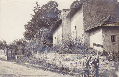 WW1 GERMAN ARMY PHOTO - 1917 REMONCOURT FRANCE CHURCH