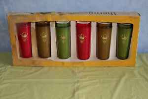 NOS Set 6 Better Maid insulated Raffia burlap tumblers glasses