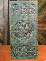 Antique Doors Ganesha Carved Door Wall Panel