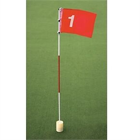 FULL SIZE GOLF FLAG PIN CUP HOLE PRATICE PUTTING CHIPPING DRIVING GIFT SET CLUB