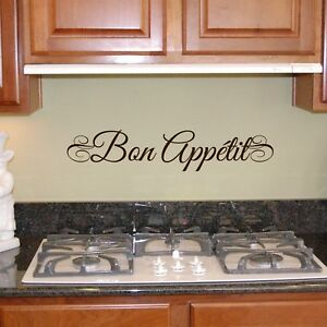 bon appetit wall decal vinyl lettering wall saying sticker