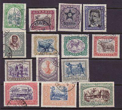 Liberia # 214-27a Complete Set of 1923 Fauna