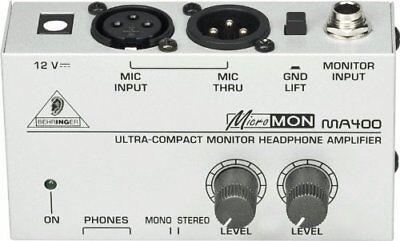 Behringer MA400 Monitor Studio Headphone Amplifier Micromon Miniature AMP