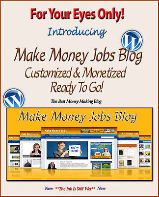 Make Money Jobs Blog Self Updating Website Clickbank Amazon Adsense Pages   More