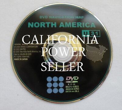 2007 2008 2009 Toyota Camry Tundra Solara GEN5 Navigation DVD Map U31 U.S Canada