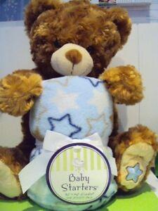 Baby-Starters-Brown-12-Plush-sitting-Bear-Blanket