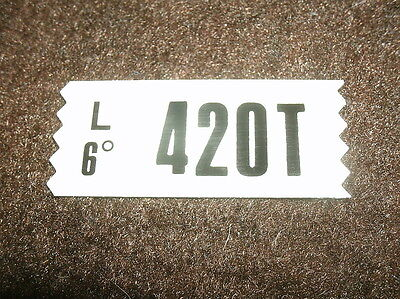 1969 Ford Mustang / Mach 1 428cj 4sp Engine Decal 420t