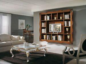 Parete porta tv con cornice 100 legno mobile libreria ebay - Mobile porta tv da parete ...
