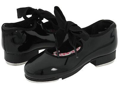 Capezio Tap Shoes Black Patent Adults/womens Size 6 1/2 M