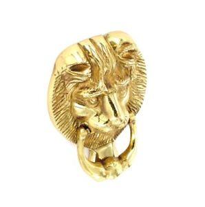 Door-Knocker-Lion-Head-Large-6-Solid-Brass-B2250
