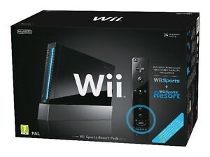 Nintendo Wii Wii Sports Resort and Wii Remote Plus Black Console & Zumba game
