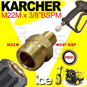 KARCHER-M22M-x-3-8-M-TRIGGER-GUN-ADAPTOR-HOSE-COUPLING