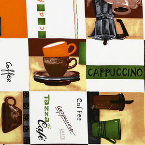 COTTON-TABLECLOTH-CURTAIN-FABRIC-CAFE-DECO-COFFEE-BROWN