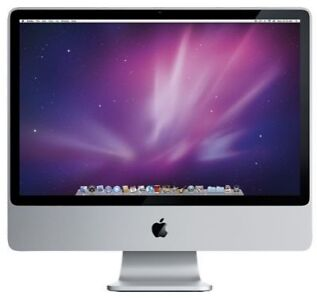 """Apple iMac 24"""" Computer MB325LL/A 2.8GHz 2GB RAM 320GB HDD used tested guarantee"""
