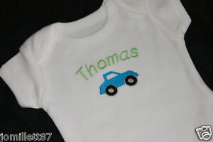 Personalised-Baby-Boy-Clothes-Vest-sleepsuit-Car-Design
